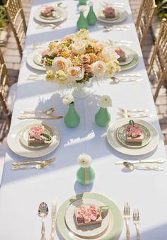 décoration d'une table élégante
