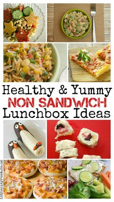 Healthy and yummy non sandwich lunchbox ideas for all the family