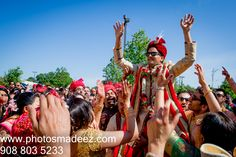Indian Groom at Baraat conducted by DJ Gaurav at Springfield Country Club, PA. Indian Wedding in Pennsylvania. Gujarati Wedding. Best Wedding Photographer PhotosMadeEz, Award winning photographer Mou Mukherjee. Along with Caliber Farms and One Events Mgmt #meghahemal2015