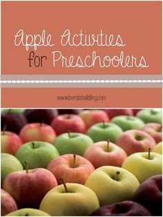 Celebrate fall with your preschooler using these apple activities, crafts, books, and recipes!