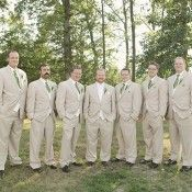 Brown-Suit-with-Green-Tie-Groomsmen