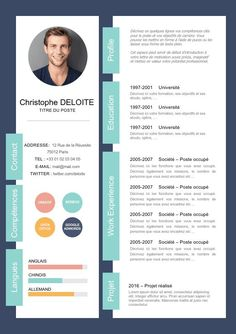 CV innovant et moderne If you like this design. Check others on my CV template board :) Thanks for sharing!CV innovant et moderne Creative Cv Template, Cv Resume Template, Resume Design Template, Creative Resume, Creative Cv Design, Free Cv Template, Cv Ingenieur, Graphic Design Cv, Infographic Resume