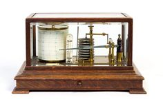 An oak cased brass barograph made by John Trotter, optician, Glasgow, late 19th century - Price Estimate: $200 - $300