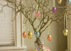 """How To Make An Easter Egg Tree I """"Here's how to make your own Easter Egg Tree in five easy steps."""""""