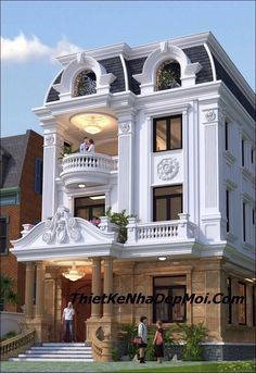 Modern Exterior House Designs, Classic House Exterior, Classic House Design, Modern House Facades, Modern House Design, House Outside Design, House Gate Design, Bungalow House Design, House Front Design