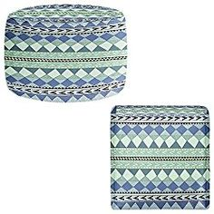 Foot Stools Poufs Chairs Round or Square from DiaNoche Designs by Nika Martinez – Purple Native Forest