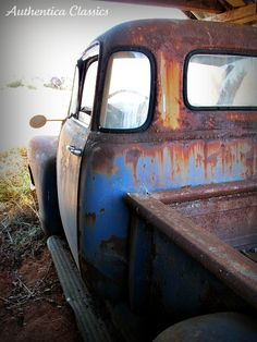 """Old Chevy Truck - LOVE the """"bubble"""" windows!"""