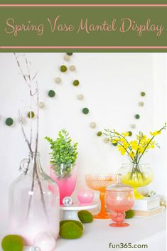 Bring On The Color With This Spring Mantel Decoration Idea. Amy Weir From  Delineate Your