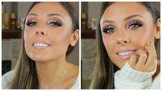 Christmas Glitter Party Makeup Look Holiday Tutorial Holiday Makeup, Christmas Makeup, Glitter Eyeshadow, Eyeshadow Looks, Beauty Tutorials, Makeup Tutorials, Makeup Ideas, Party Makeup Looks, Glitter Party