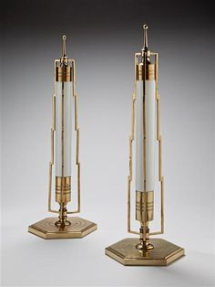 A PAIR OF ART DECO TABLE LAMPS, America, circa 1930 | London | Mallett Antiques