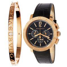 Bvlgari bracelet and watch