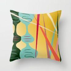 Retro Color 06 Throw Pillow