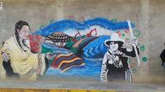 A protest mural in Celendin, Cajamarca region, Peru