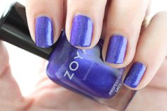 Zoya Paradise Sun Swatches Isa Purple Shimmer Nail Polish #EverydayZoya