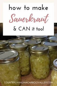 Great Flower Supply Expert Services Available Online Ferment Your Own Sauerkraut. So Good For Gut Health, Making Sauerkraut Is Easy. Canning Soup Recipes, Easy Canning, Canning Tips, Home Canning, Canning Sauerkraut, Homemade Sauerkraut, Sauerkraut Recipes, Cabbage Recipes, Canning Cabbage