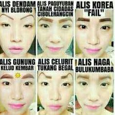 berbagai model alis (2015) Funny Pictures, Funny Pics, Funny Memes, Lol, Humor, My Love, Funny Things, Quotes, Hawaii