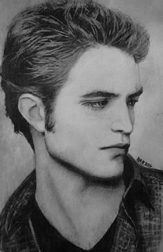 https://flic.kr/p/Ff6BPf | Robert Pattinson as Edward Cullen from Twilight | my charcoal and pencil sketch