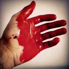 Blood hand Art