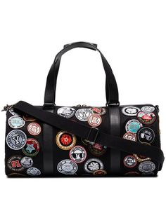 Shop online Saint Laurent Noe multi patch duffle bag now with Same Day Delivery in London. Bag Patches, Designer Luggage, Duffel Bag, Messenger Bag, Yves Saint Laurent, Saints, Satchel, Shoulder Bag, Leather