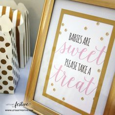 Babies are Sweet Please take a Treat Sign by LetsGetFestive on Etsy, $5.00