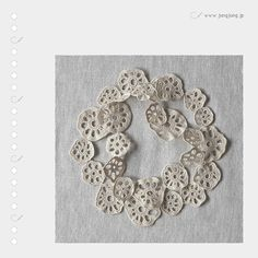 jungjung crocheted lotus root slices!!