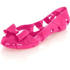 Darcy Pink Bow Jelly Pump ... Too Cute!