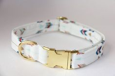 Arrow Tribal Dog Collar - Gold Hardware
