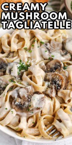 Pasta Sauce Recipes, Recipes With Tagliatelle Pasta, Creamy Pasta Sauces, Creamy Pasta Recipes, Spaghetti Recipes, Creamy Sauce, Cheese Recipes, Vegetarian Recipes, Cooking Recipes