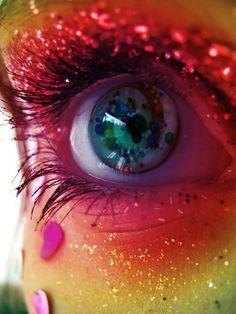 Glitter Makeup | colour, eyes, glitter, makeup, rainbow - inspiring picture on Favim ...