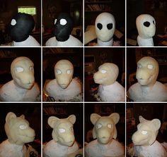 Fursuit mask Process by ~Merkindesr on deviantART