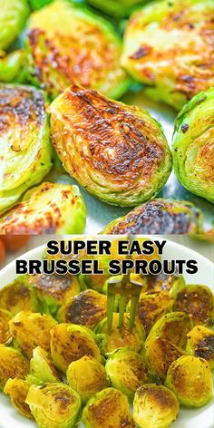 This is my go-to recipe for Brussel sprouts. It is super easy to make and ridiculously tasty! These Pan-Fried Brussel Sprouts require just a few common ingredients, and they always come out very tender and succulent. Give it a try and you'll be eat Healthy Vegetable Recipes, Healthy Vegetables, Recipes For Vegetables, How To Cook Vegetables, Cooking Vegetables, Steamed Vegetables, Super Healthy Recipes, Pan Fried Brussel Sprouts, Brussels Sprouts