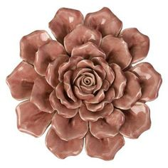 IMAX Isabella Medium Ceramic Wall Decor Rose - 64195