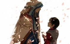 Tags: Anime, Chinese Clothes, Looking Up, Looking Down, Ibuki Satsuki, Headscarf