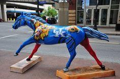 Thoroughbred University of Kentucky horse on parade, Louisville, KY