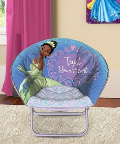 Lounge Around With Tiana With This Saucer Chair It Can Be Folded Up When Not In Use But With Such A Fun Design It Can Always Serve As A Decorating Piece