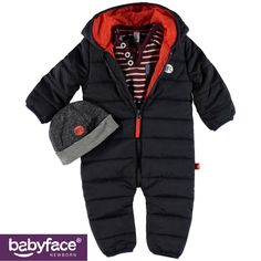 Part of the Babyface Newborn boys WINTER 2015 collection. In stores from September 2015. T-shirt, Winter Suit and Hat.