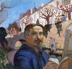 Self Portrait in Front of the Priory Maurice Denis