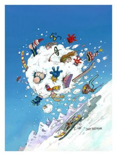 Snowballing - Gary Patterson  My Grandparents had Gary Patterson artwork