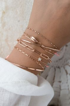 Armband Rosegold, Shells, Pink, Glow, Delicate, Rose Gold, Beige, Diamond, Outfit