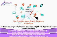 Gayatri software is the best in website, software, Hybrid Mobile app development, Digital Marketing, and Product development. We are working with India biggest MNC'S and providing best in class services. Web Development Company, Application Development, Software Development, Growing Your Business, Platforms, Mobile App, Digital Marketing, Web Design, Social Media