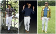 como combinar un pantalon blanco hombre - Buscar con Google