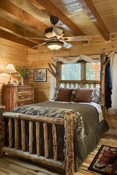 The Honest Abe Eagledale log home plan was modified to create the dream log cabin pictured in this online gallery. Download detailed plans. Get FREE info. #LogHomeDecor #LogHomePlans