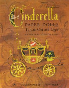 """as i promised, here are the scans of gordon laite's """"cinderella"""" paper doll~ i've looked for this book for 15 years. finally, this year i ended up purchasing two books. one …"""