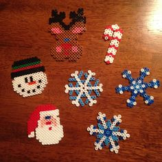 Christmas ornaments perler beads by laurengaare