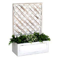 Crea un espacio diferente en tu terraza con celosias de - Celosia con jardinera ...