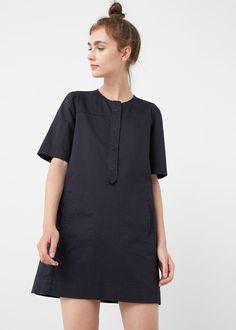 Shift cotton dress -  Woman | MANGO USA
