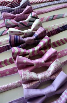 A bevy of bow ties.