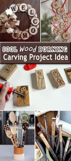Cool Wood Burning Carving Project Idea • Lots of Ideas & Tutorials!