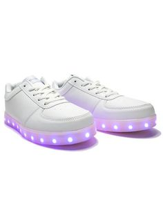 Light Up LED Shoes All White Burning Man por ElectricStyles