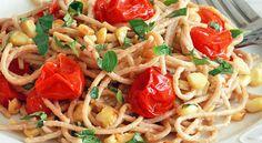 HOORAY PUREE RECIPE - Creamy Tomato and Corn Pasta